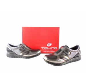 Zapatos mujer Tolino Comfort light 15014 charol negro silver