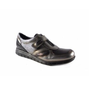 Zapatos mujer Tolino Comfort light 15014 charol negro silver