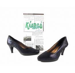 Zapatos de salón Kiargo de malla azul marino