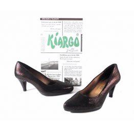 Zapatos de salón Kiargo de malla burdeos tornasol