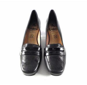 Zapatos de salón de mujer Kiargo con antifaz de tacón bajo en color negro