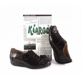 Zapatos confort Kiargo con plantilla extraible y cierre de velcro