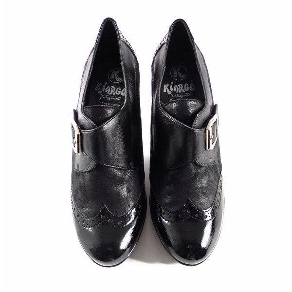 Tacón 6132 Kiargo En Negro Color Abotinados Zapatos Con eYIW2H9EDb
