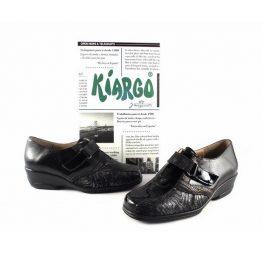 Zapatos confort Kiargo para juanetes con cierre de velcro