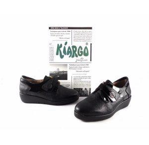 Zapatos confort Kiargo con cierre de velcro y plantilla extraible