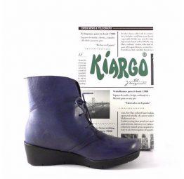Botines confort Kiargo con cuña de 4 cm. en color azul