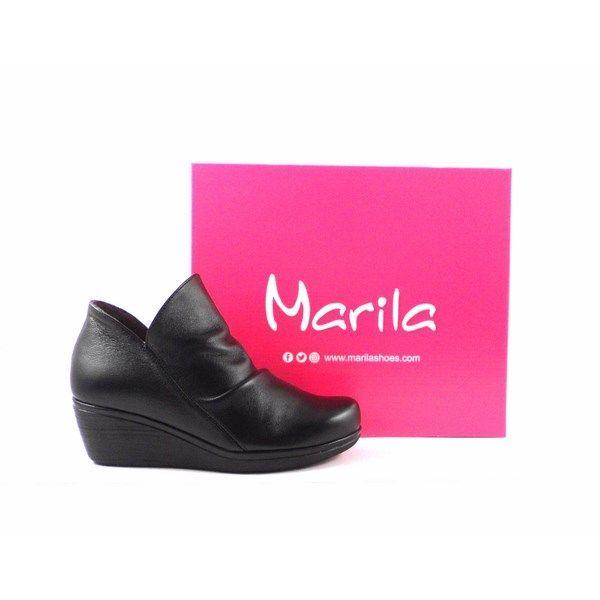 Botines piel confort Marila Shoes 1336 negro