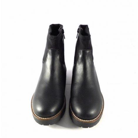 Botines Vitti Love en piel 4891 con tobillera elástica color negro