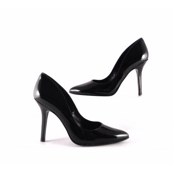 Zapatos de salón Gabriela de punta fina charol negros