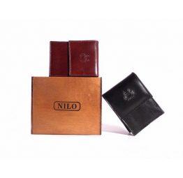 Pitillera piel Nilo con solapa y tarjetero en marrón o en negro