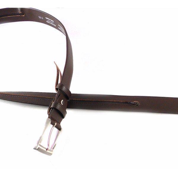 Cinturón con cremallera interior para dinero en piel color marrón o negro