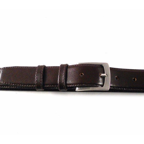 Cinturón de hombre talla especial en piel color marrón