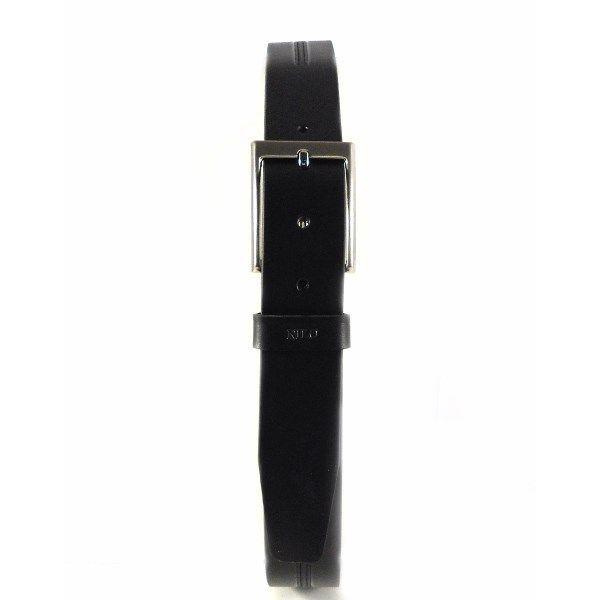Cinturón sport piel Nilo marrón y negro
