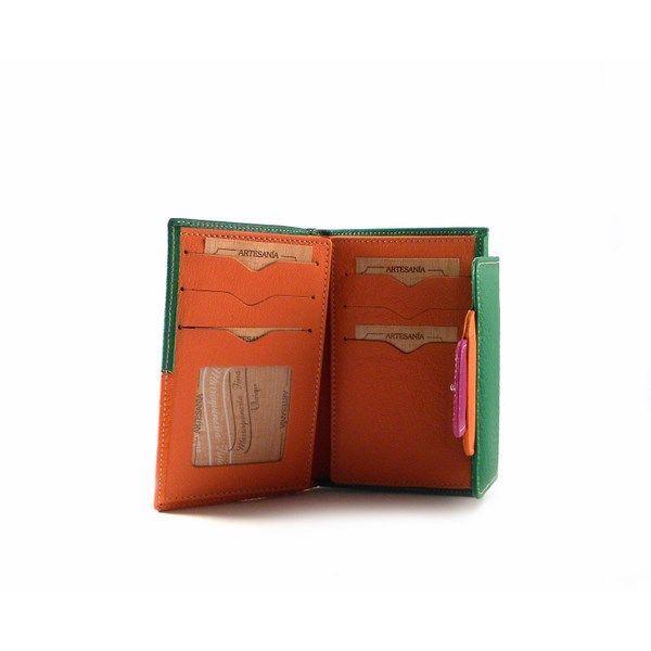 Billetera pequeña de mujer en piel Nilo multicolor