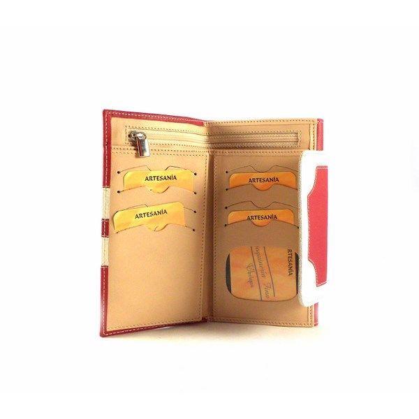Billetera piel de mujer tamaño mediano con doble billetero