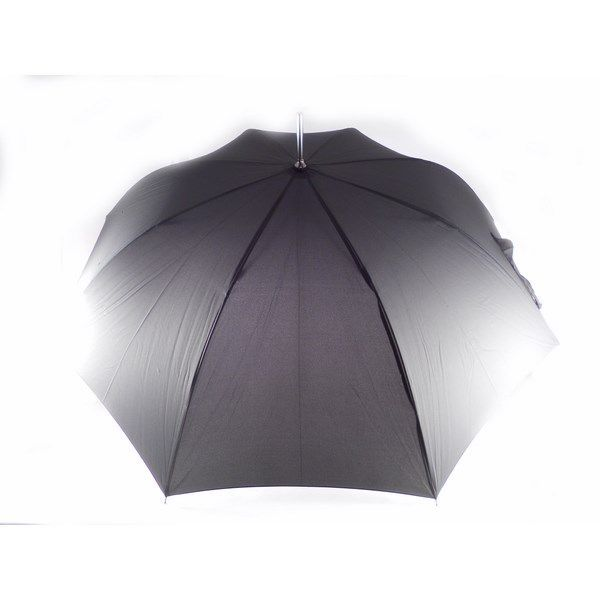 Paraguas Vogue para hombre 571V negro o marrón con mango en piel