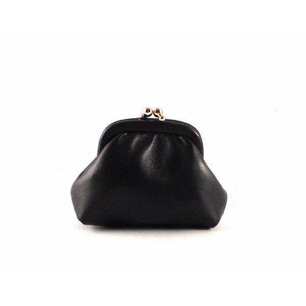 Monedero mini en piel con cierre de boquilla