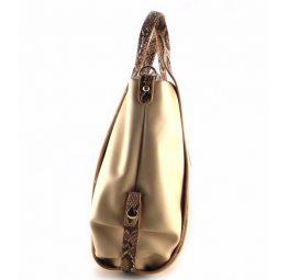 Bolso para mujer E.Ferri Fashion tipo saco combinado con serpiente print