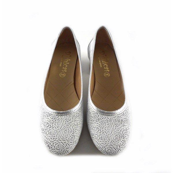 Bajo Plata Zapatos De Con D´chicas Tacón Salón Picados 4320 Blanco gfb7y6