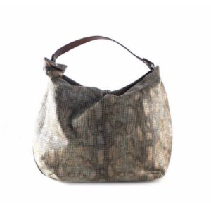 Shoulder bag picado Garni Milano GF321--AZ-CU metalizado