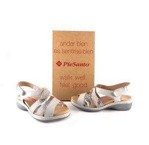 Sandalias de plantilla extraíble Piesanto 1813 color perla