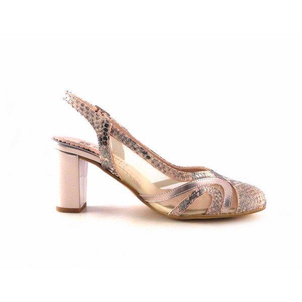 Zapatos de salón Piesanto 1214 color nude