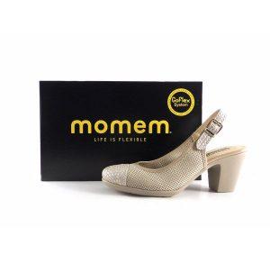 Zapatos de salón Momem con talón descubierto color beig 0521