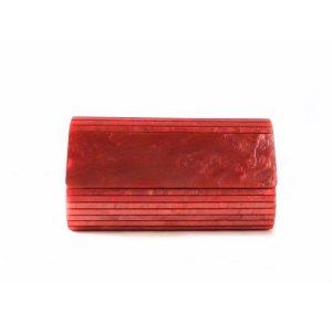 Cartera de mano de carey E.Ferri color coral 0HV3522