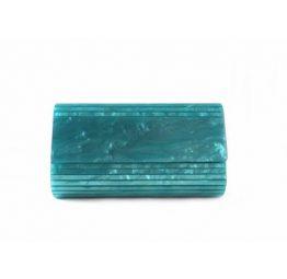 Cartera de mano de carey E.Ferri color verde agua 0HV3522