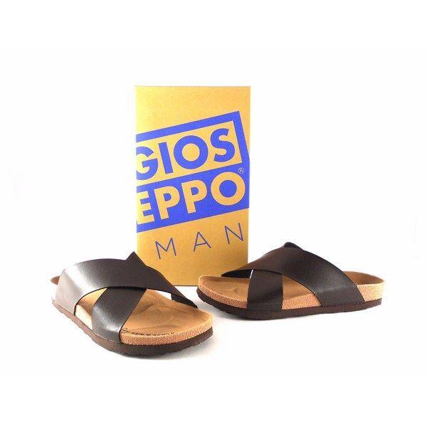 Chanclas de hombre Gioseppo modelo Prazo color marrón chocolate 38188