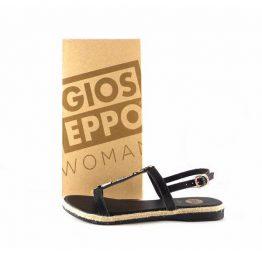 Sandalias planas Gioseppo modelo Melisana 40498 color negro