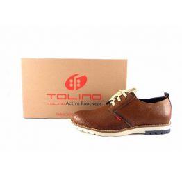 Zapatos con cordones picados Tolino serie Jons color cuero 66800