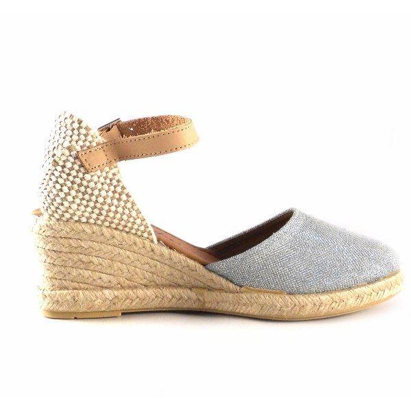 Cm Mediterránea Pulsera Para Esparto Mujer De Zapatillas Color Plata Con 6gIb7fyvmY