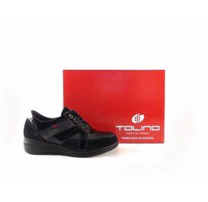 Zapatos confort tipo deportiva Tolino 17300 color negro con plantilla extraíble