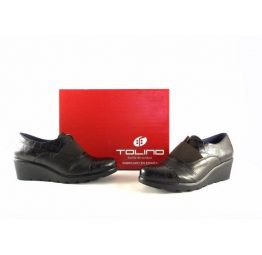 Zapatos abotinados para mujer Tolino confort con cuña serie Ondas 21126
