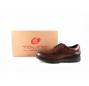 Zapatos para hombre de cordones Tolino 70326 color marrón