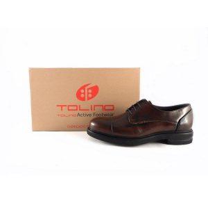 Zapatos con cordones para hombre Tolino color marrón 90216