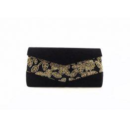 Cartera de mano E,Ferri 0HI3521 color negro con dorado
