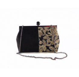 Bolso cóctel E,Ferri Glamour 0HI3520 negro con dorado