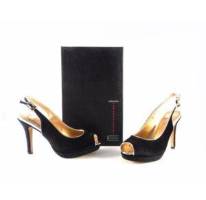 Zapatos E.Ferri Glamour ZHI0706 antelina color negro