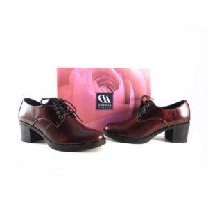 Zapatos D'Angela abotinados 11780 charol burdeos