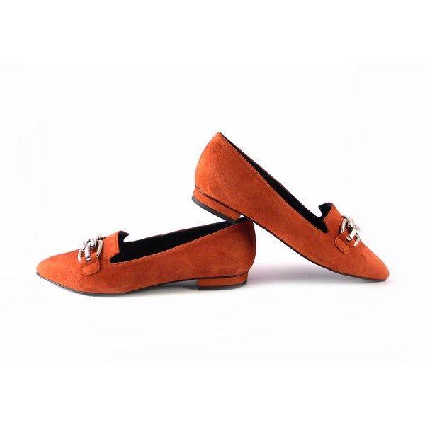 Gabriela 1637 Planos Zapatos Calabaza Color oCBQWrdxe
