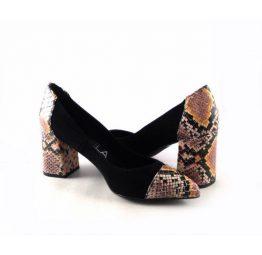 Zapatos de salón Gabriela 1918F combinado con serpiente