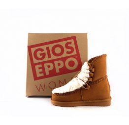 Botines de piel Gioseppo color marrón estilo australiano con cuña interna 41442