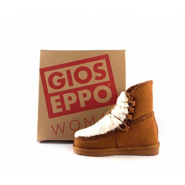 1136cb3dfbe Botines de piel Gioseppo color marrón estilo australiano con cuña interna  41442