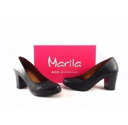 Zapatos de salón de piel Marila Shoes N1644 color negro