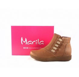 Botines confort Marila Shoes N649N color cuero