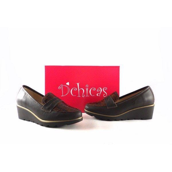 Zapatos para mujer D'Chicas 3703 con cuña y plantilla extraible