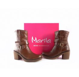 Botines Marila Shoes 1637 piel suave color marrón