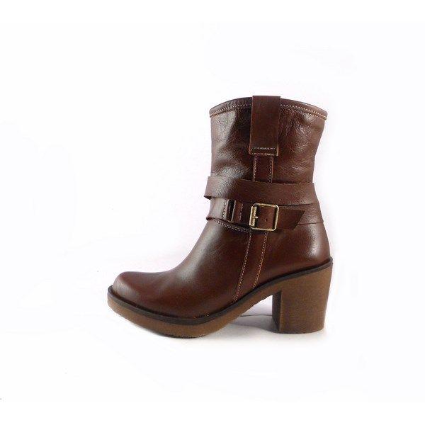 Botines Marila Shoes 1637 piel suave color marrón